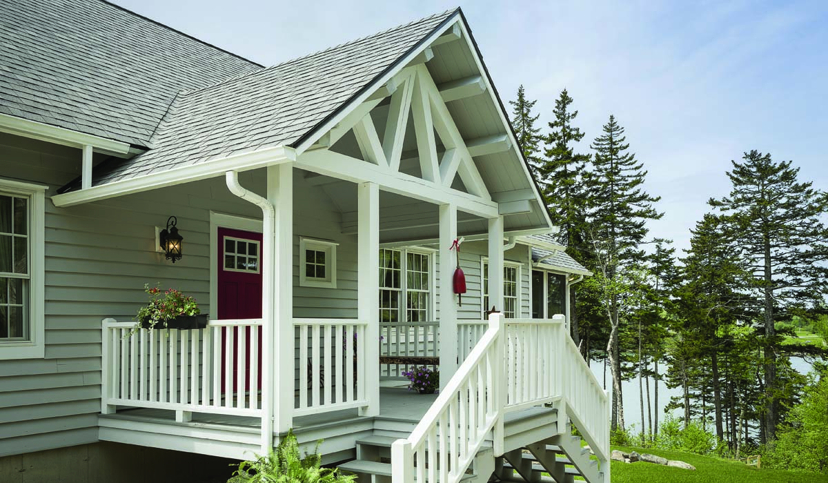 The log home redux for Phi home designs maine
