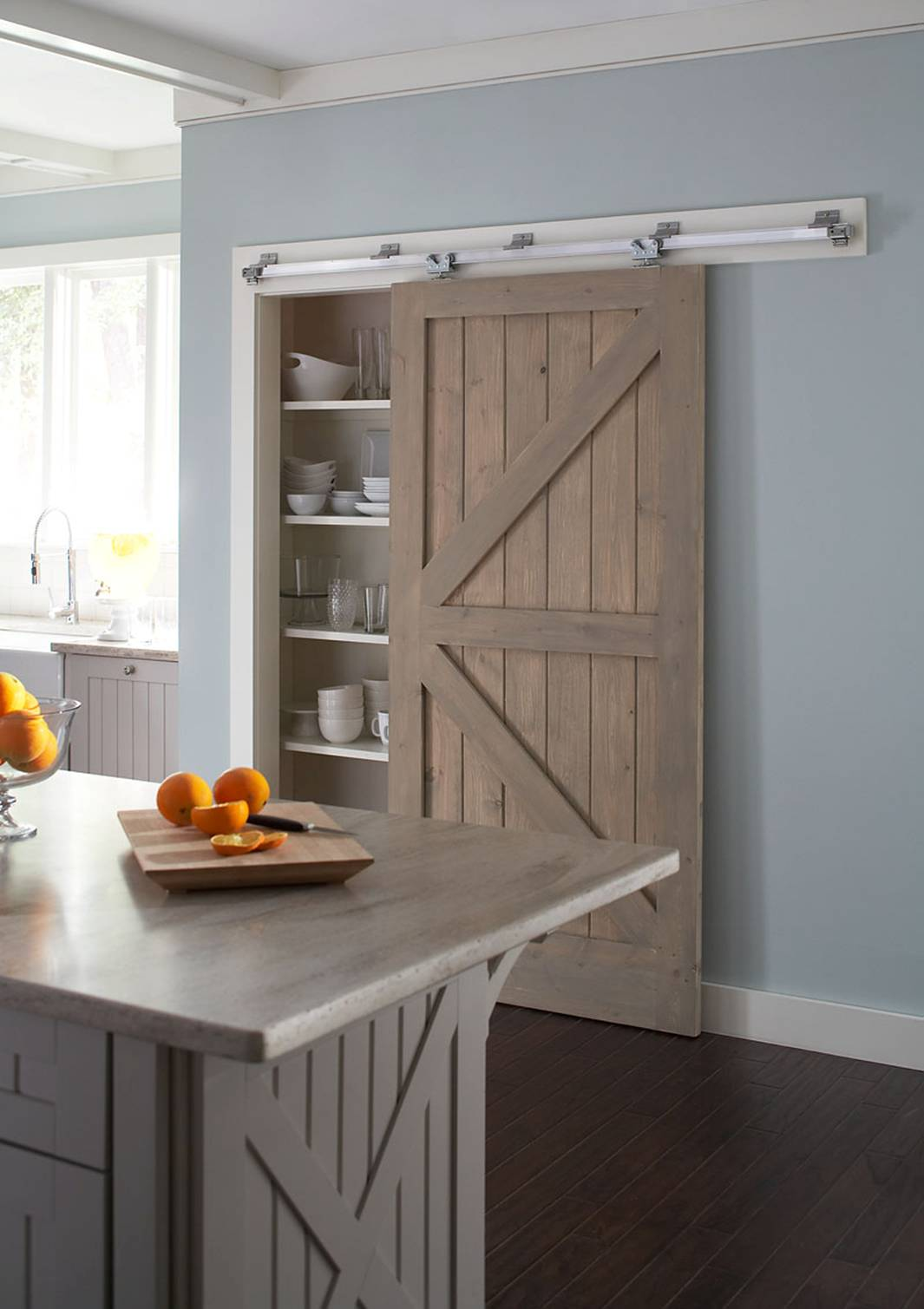 Another Slightly More Affordable Sliding Door System From HomCom, The  HomCom 6u0027 Interior Sliding Barn Door Kit. Available In Several Styles.