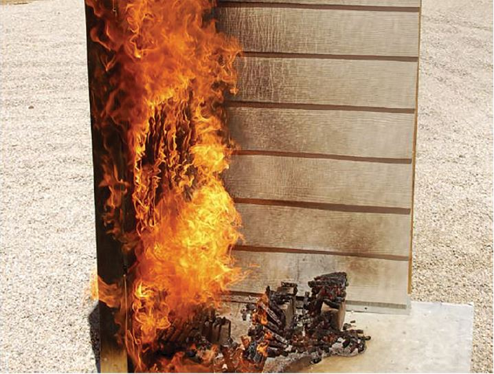 siding burn test