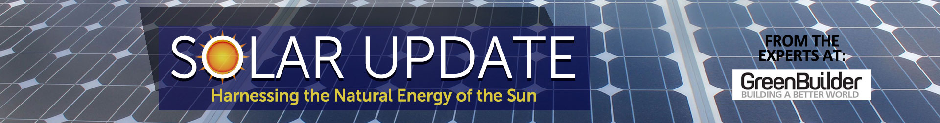 Green Builder Solar Update Banner