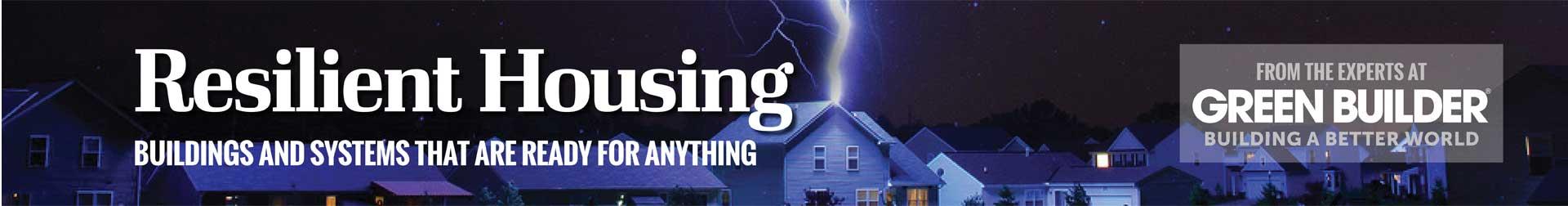 Resilient Housing Green Builder Banner