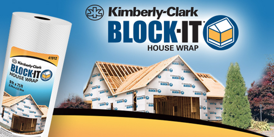 Kimberly-Clark BLOCK IT House Wrap