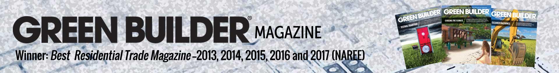 Green Builder Magazine Banner