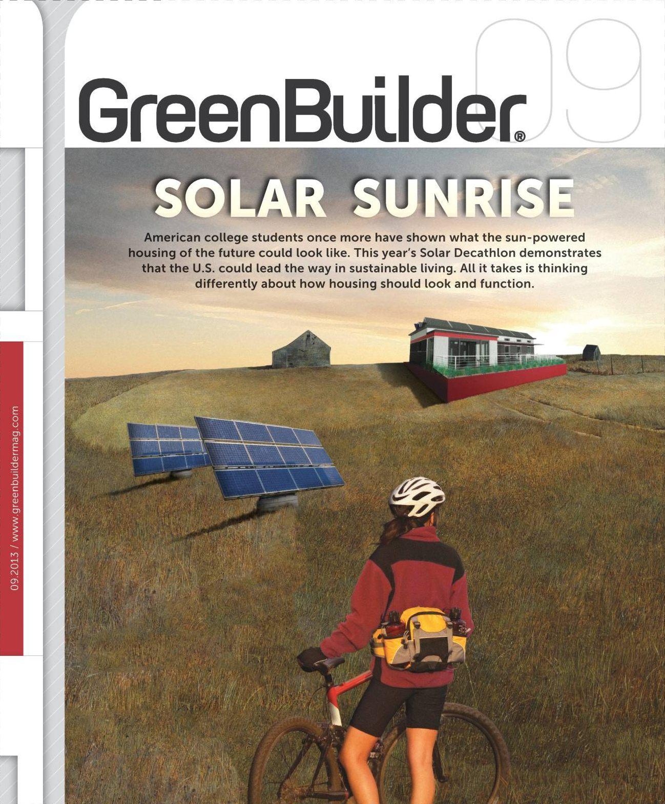 September 2013 Issue of Green Builder magazine