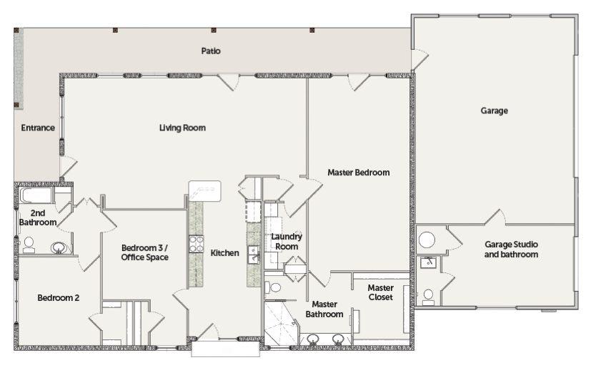 VISION House Tucson Floorplan