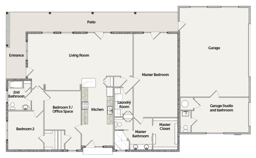 VISION House Tucson Floorplan