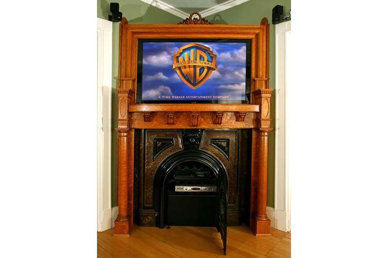 Steampunk Fireplace and TV