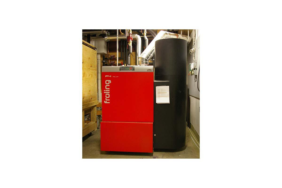 AFUE 95 boiler and pellet boiler backup