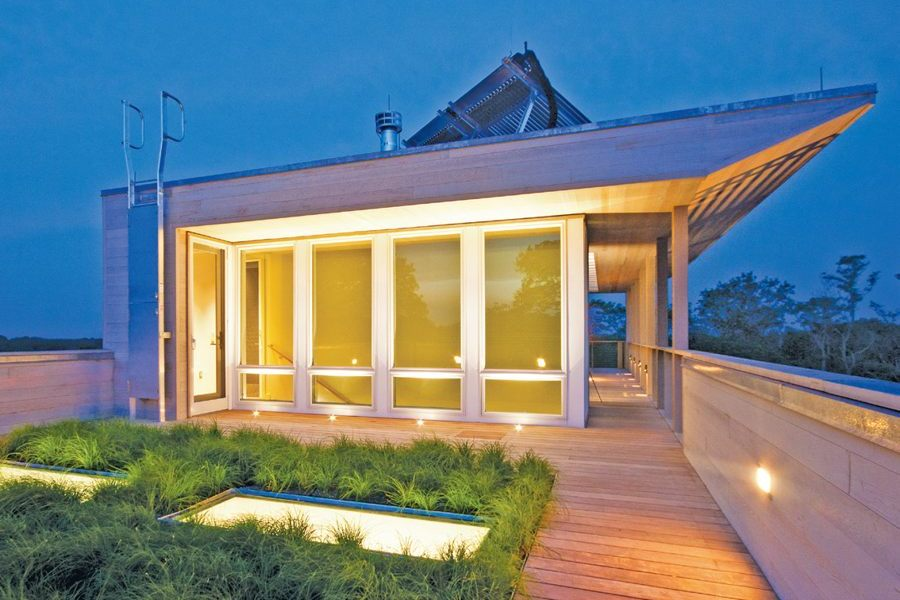 Green Roof and Skylights
