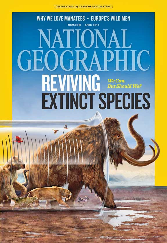 National Geographic DeExtinction Cover