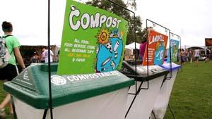 Recycling at Bonnaroo