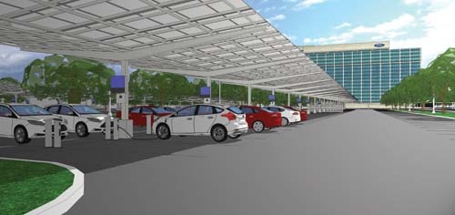 Ford solar canopy