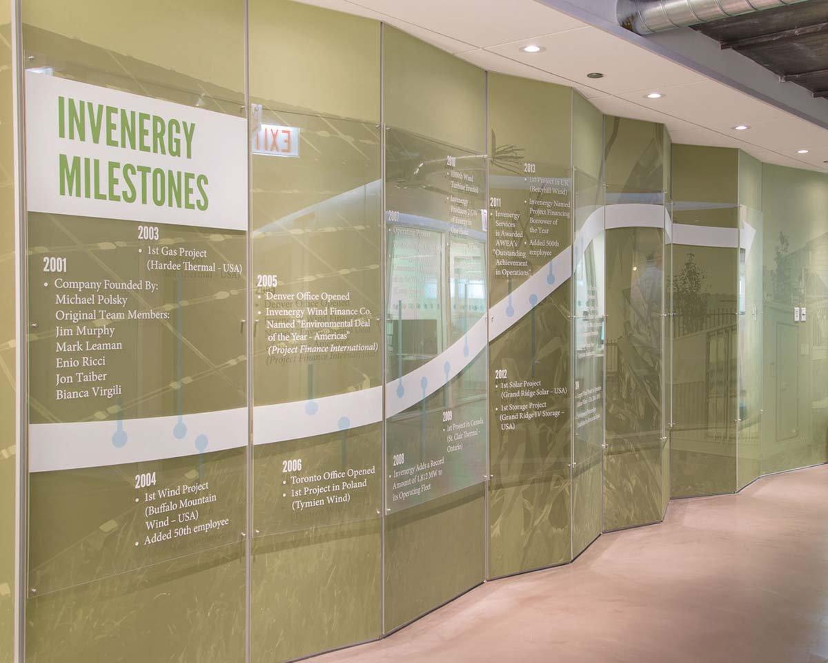 Invenergy wall of history-web