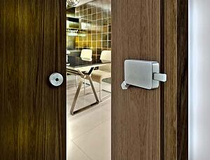 INOX Surface Mount Barn Door Lock