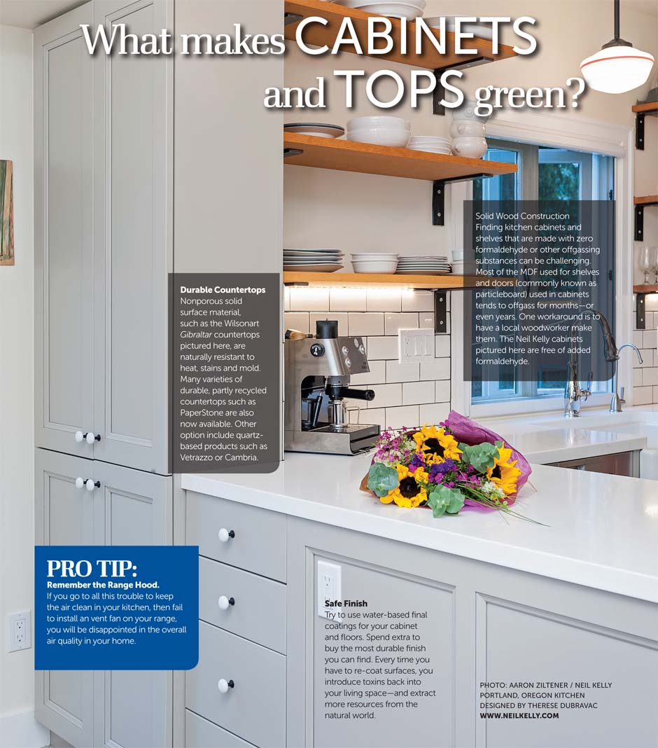 What Makes Cabinets and Tops Green?