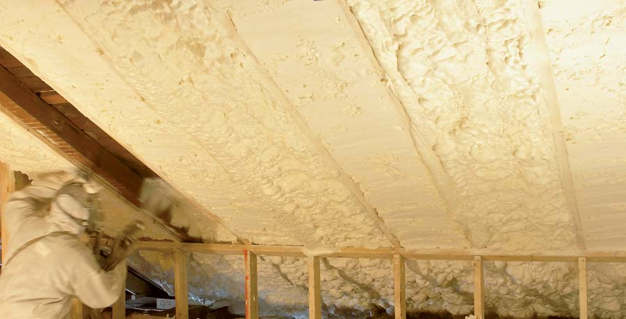 Icynene Classic Max attic installation