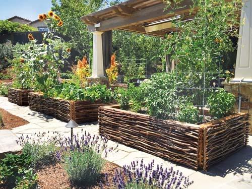 residential raised garden bed