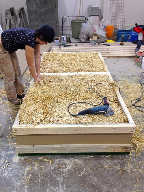 Some bale builders, myself included, began working with the idea of prefabricated straw bale walls, building them off-site and bringing them on site already ...