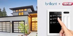 Brilliant Adds Garage Door Control to Genie Smart Home Package