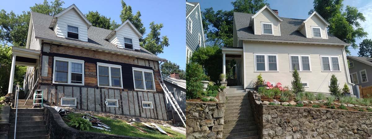 Restoration Garner before and after