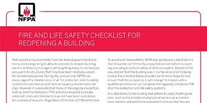 Reopening? Here's a Quick Fire Safety Checklist