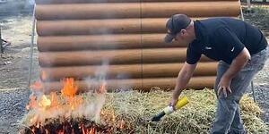 Video: Spray-on GreenFire Product Offers Last Line of Defense Against Runaway Wildfires