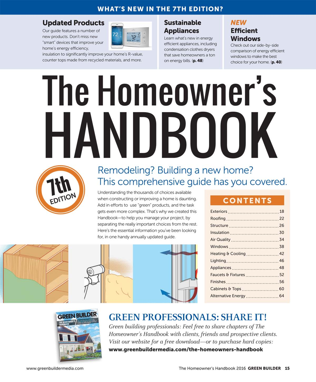 Homeowner's Handbook from Green Builder Media