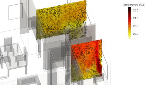 IAQ - Temp vertical slices second floor-web