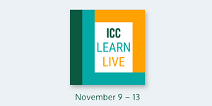 ICC Learn Live Digital Event to Be Held in November