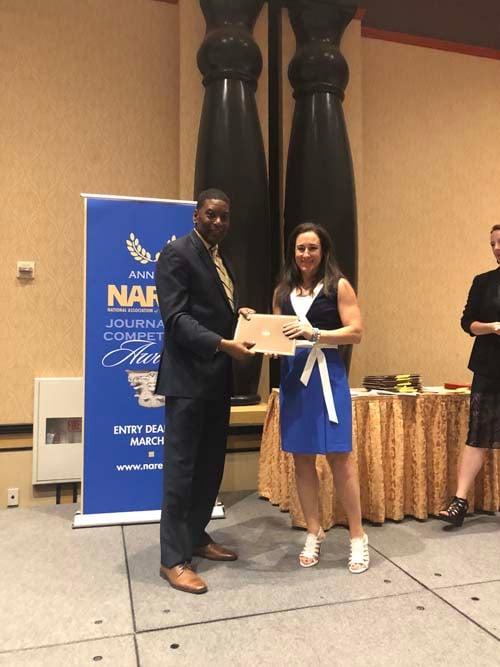 Sara Gutterman accepts NAREE award