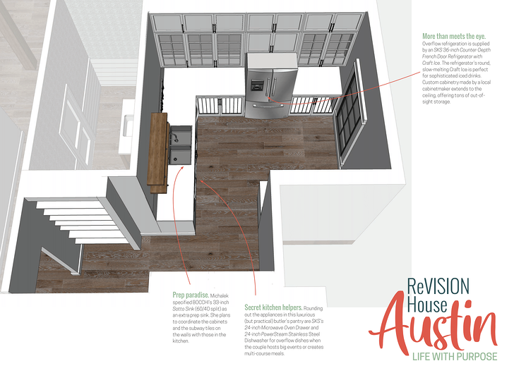 ReVISION House Austin butlers pantry