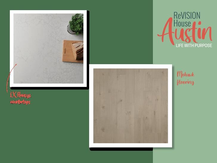 ReVISION House Austin flooring countertop