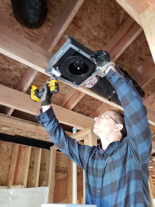 Bruce Uhler installing Panasonic ERV-web