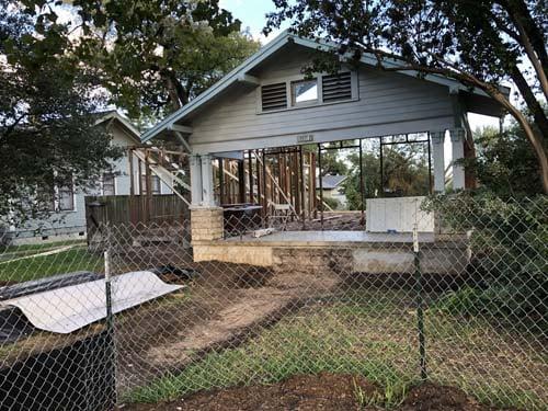 Texas Passive Exterior During Renovation 300web