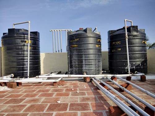 Saving Water - Rainwater harvesting system