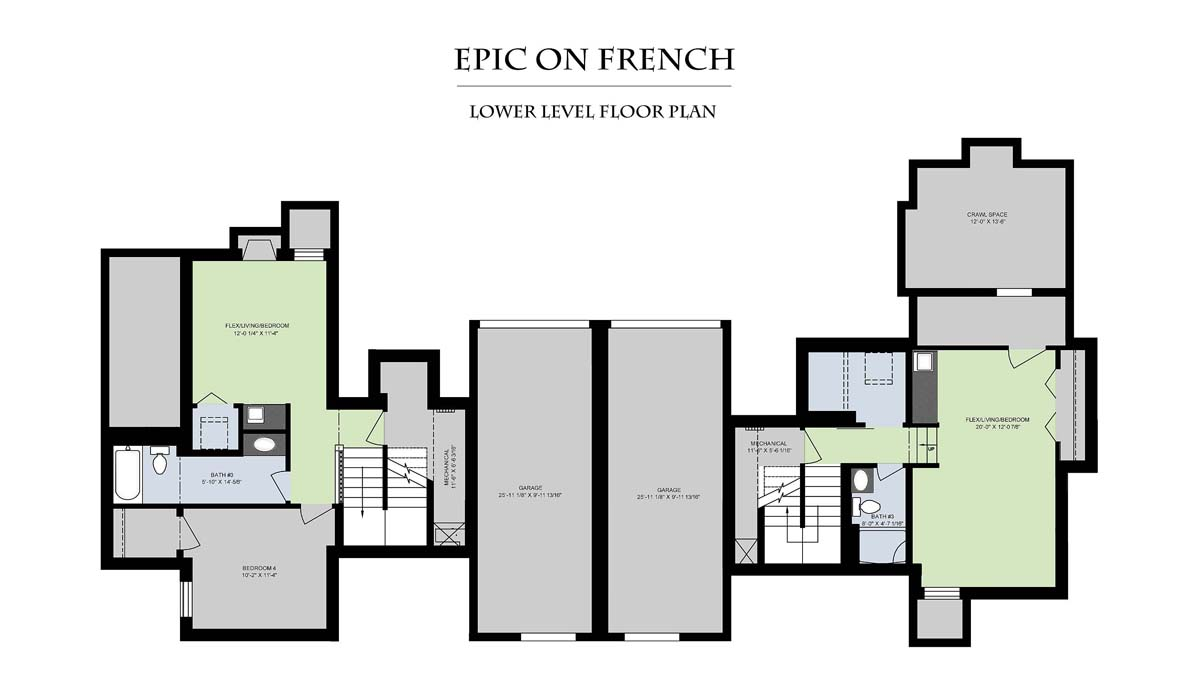 Epic On French__Lower Level Floor Plan