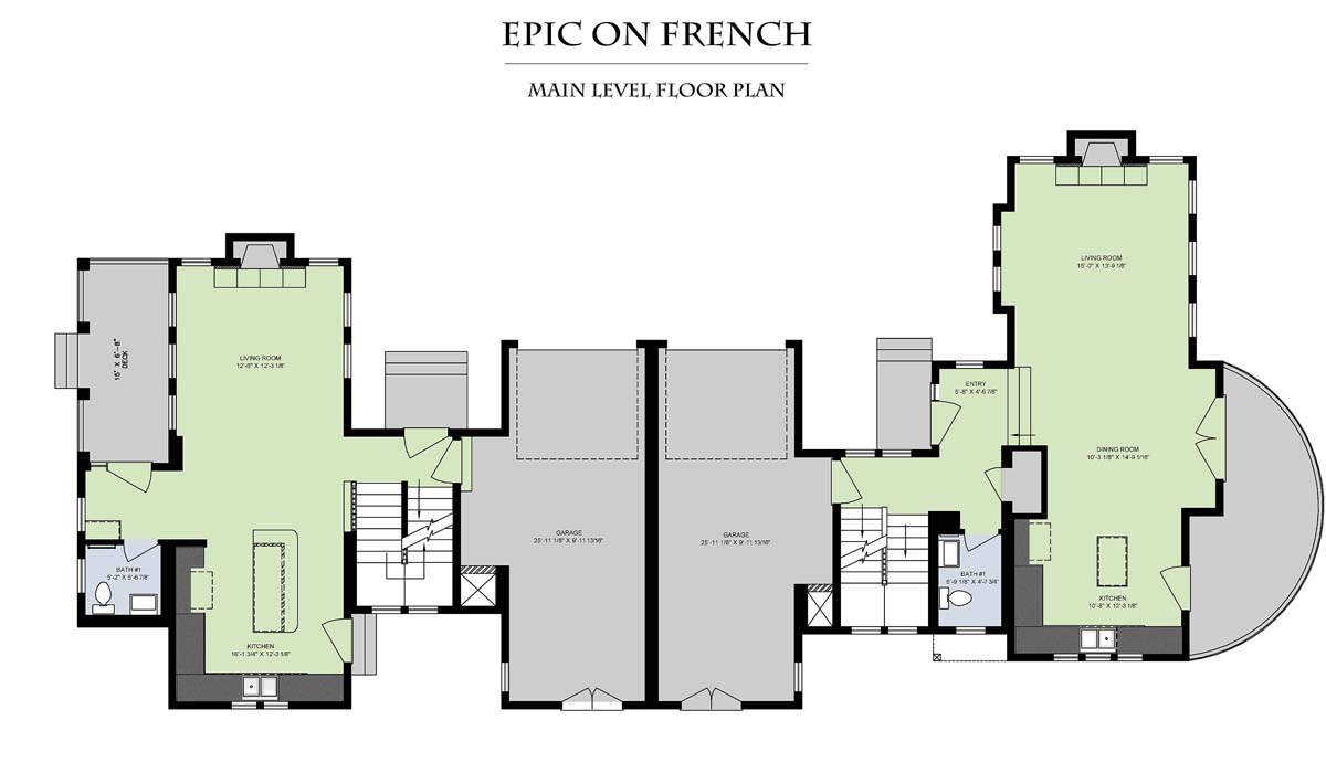 Epic On French__Main Level Floor Plan