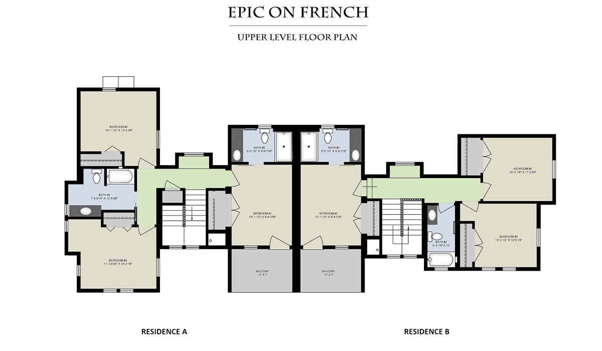 Epic On French__Upper Level Floor Plan
