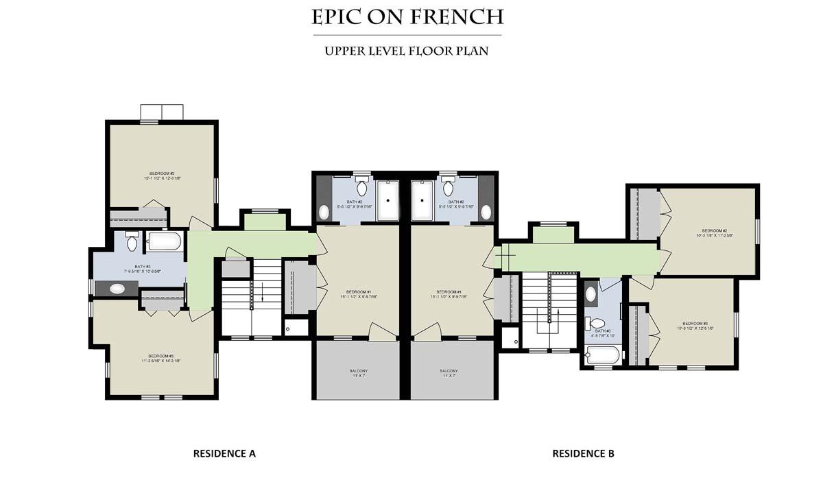 Epic On French__Upper Level Floor Plan