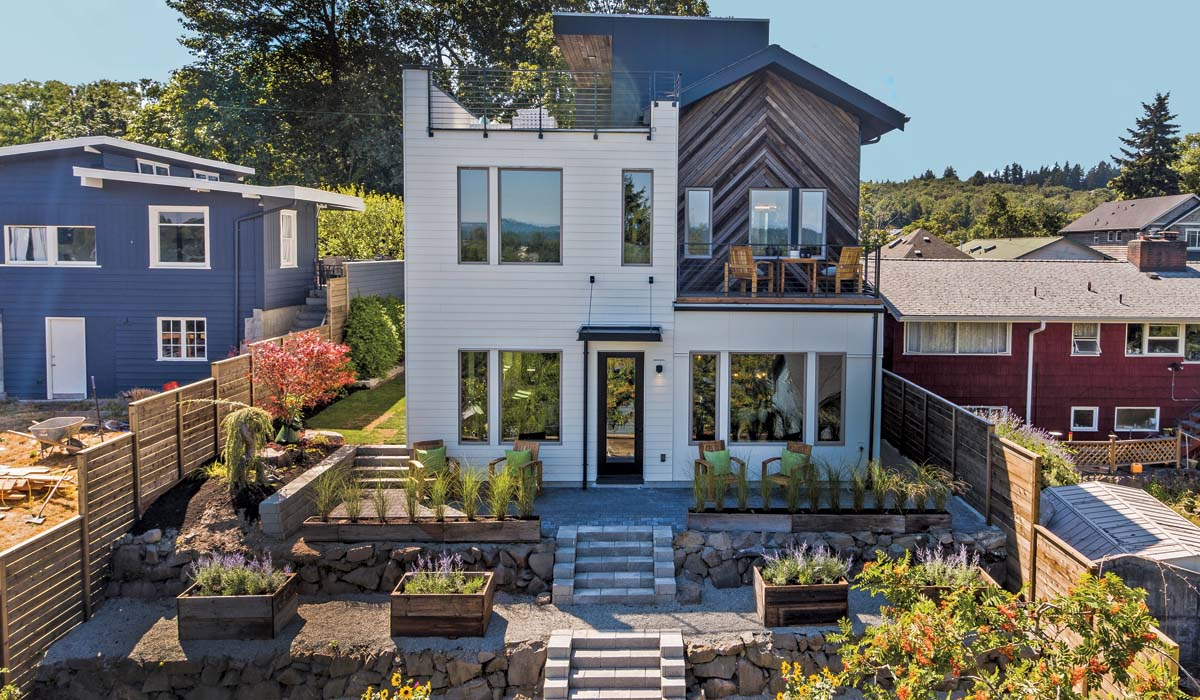 Northwest Net Zero backyard