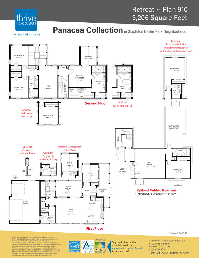 FLOOR PLAN Panacea Retreat Plan