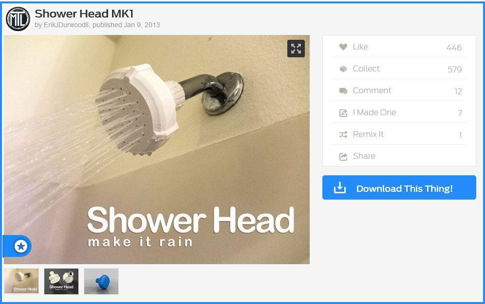 Downloadable 3d Shower Head