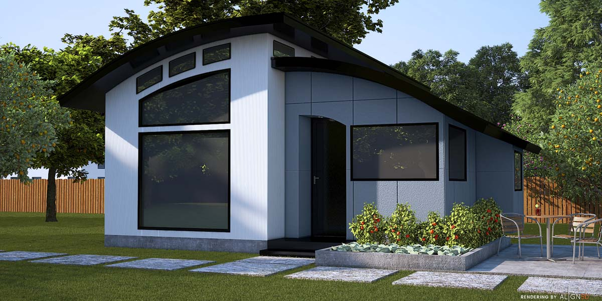 Flex House Exterior Smoke Grey Trim-featured