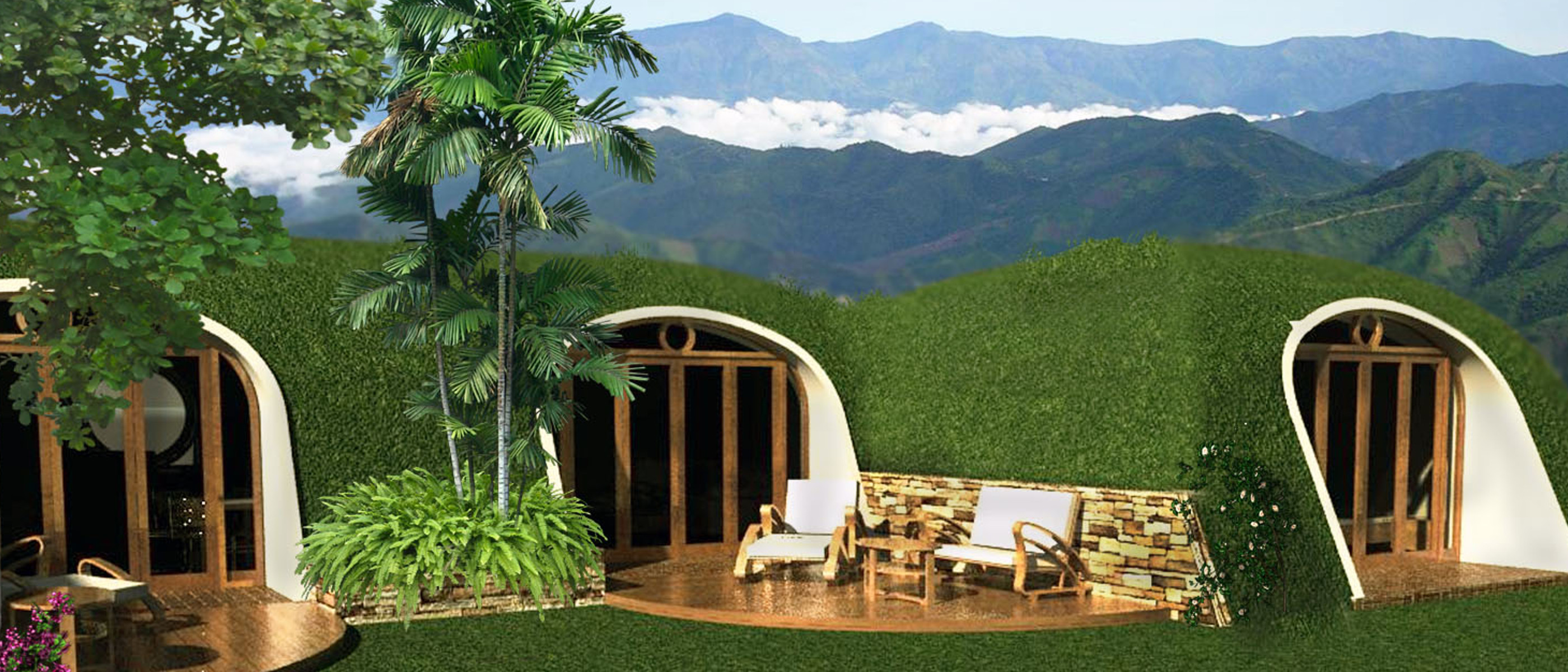 modular hobbit house can be buried in your back yard. Black Bedroom Furniture Sets. Home Design Ideas