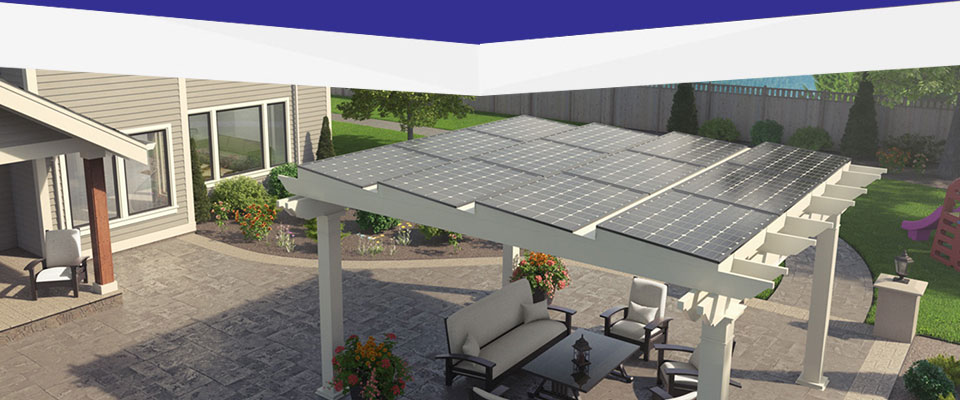 Solar Canopies Detached Power Production For Home Patios