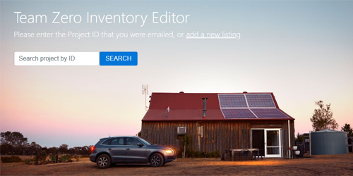 Enter Your Project in the Net Zero Inventory